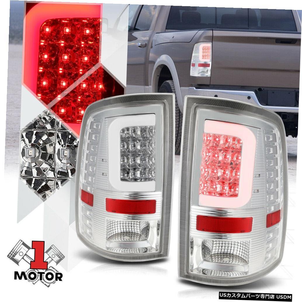 テールライト 09-17ダッジラム用クローム/クリア*トロンLED C-BAR *ネオンチューブテールライトブレーキランプ Chrome/Clear*TRON LED C-BAR* Neon Tube Tail Light Brake Lamp for 09-17 Dodge Ram