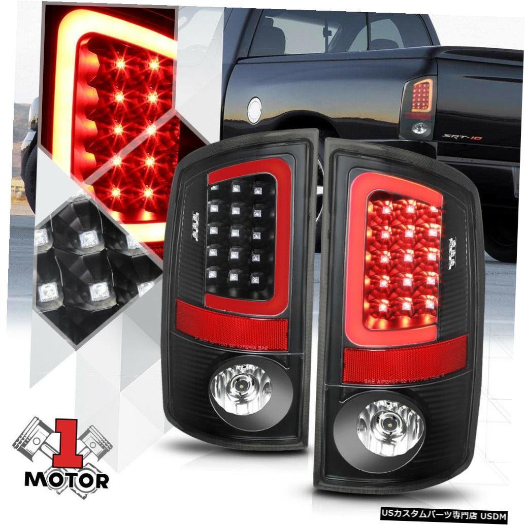 テールライト ブラック/クリア* TRON LED BAR * 3D Red-Cネオンテールライトブレーキランプ07-09ダッジラム用 Black/Clear*TRON LED BAR*3D Red-C Neon Tail Light Brake Lamp for 07-09 Dodge Ram