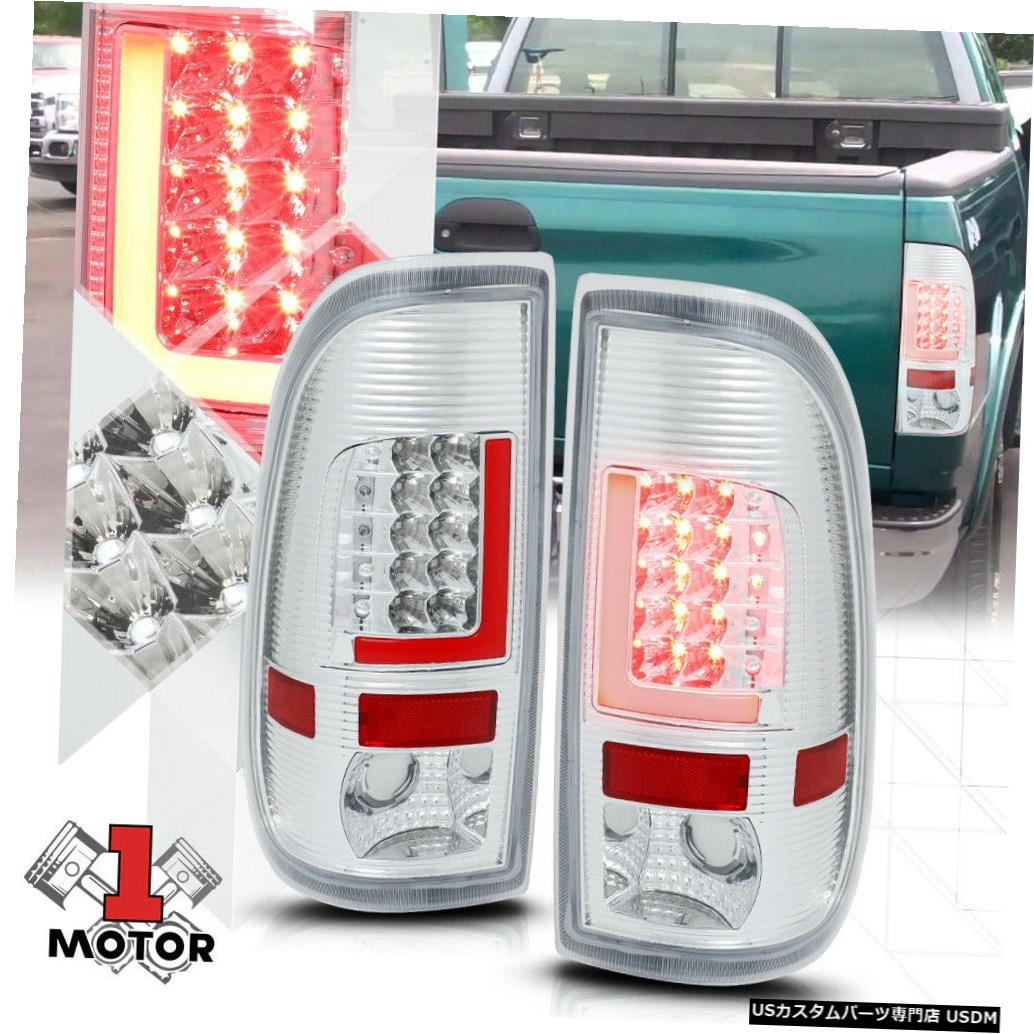 テールライト 97-07 Ford Super Duty用のクロム/クリア* TRON LED BAR * 3D Red-Lネオンテールライト Chrome/Clear *TRON LED BAR* 3D Red-L Neon Tail Light for 97-07 Ford Super Duty