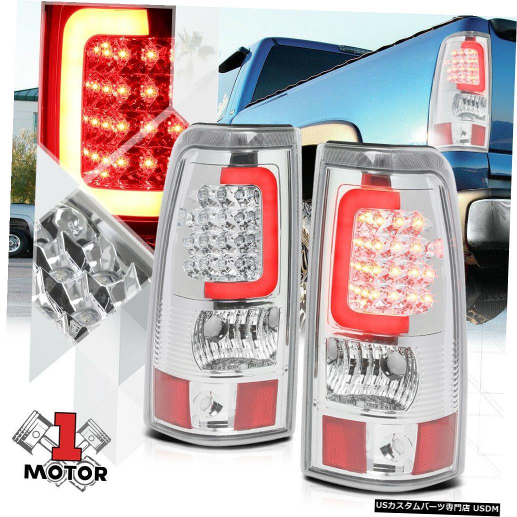 テールライト 03-07シエラフリートサイド用クロム/クリア* TRON LED BAR * 3D Red-Cネオンテールライト Chrome/Clear *TRON LED BAR* 3D Red-C Neon Tail Light for 03-07 Sierra Fleetside