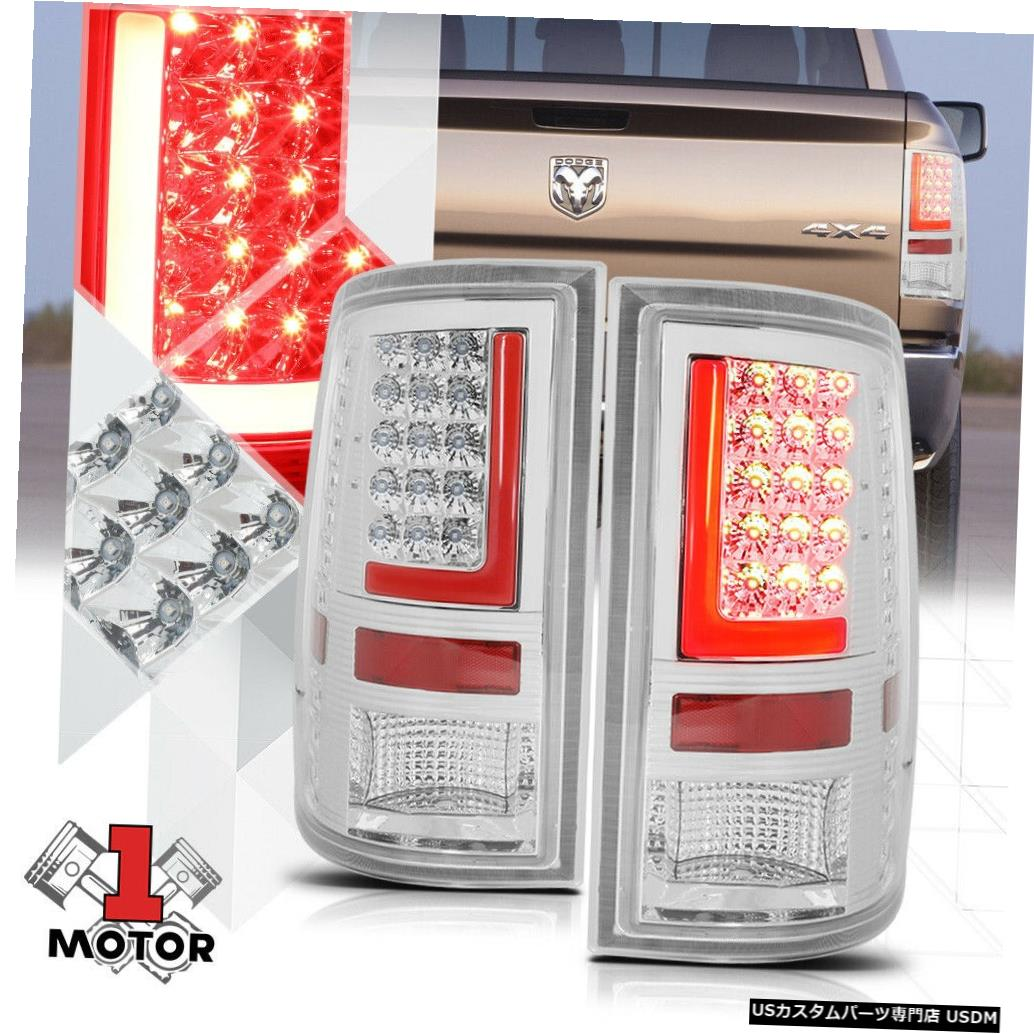 テールライト クローム/クリア* TRON LED BAR * 09-17 Ram用3D Red-Lネオンテールライトブレーキランプ Chrome/Clear *TRON LED BAR* 3D Red-L Neon Tail Light Brake Lamp for 09-17 Ram