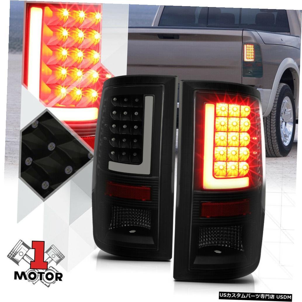 テールライト 09-17ダッジラム用ブラック/スモーク*トロンLEDバー* 3Dネオンチューブテールライトブレーキランプ Black/Smoked*TRON LED BAR*3D Neon Tube Tail Light Brake Lamp for 09-17 Dodge Ram
