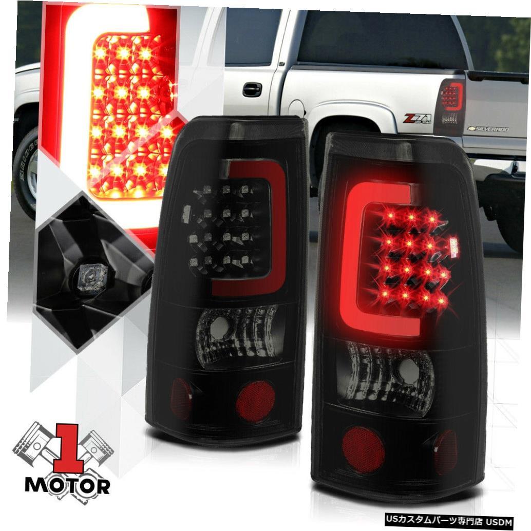 テールライト ブラック/スモーク* TRON LED BAR * 99-03シルバラード/シエラ用3Dレッド-Cネオンテールライト Black/Smoked *TRON LED BAR* 3D Red-C Neon Tail Light for 99-03 Silverado/Sierra