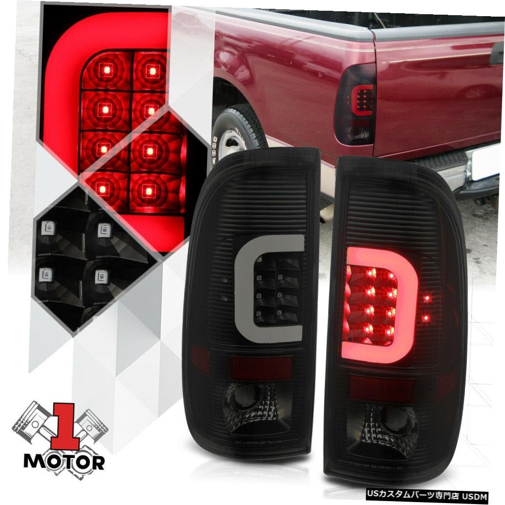 テールライト ブラック/スモーク* TRON LED C-BAR * 97-07フォードF250 F350 SD用ネオンチューブテールライト Black/Smoked *TRON LED C-BAR* Neon Tube Tail Light for 97-07 Ford F250 F350 SD