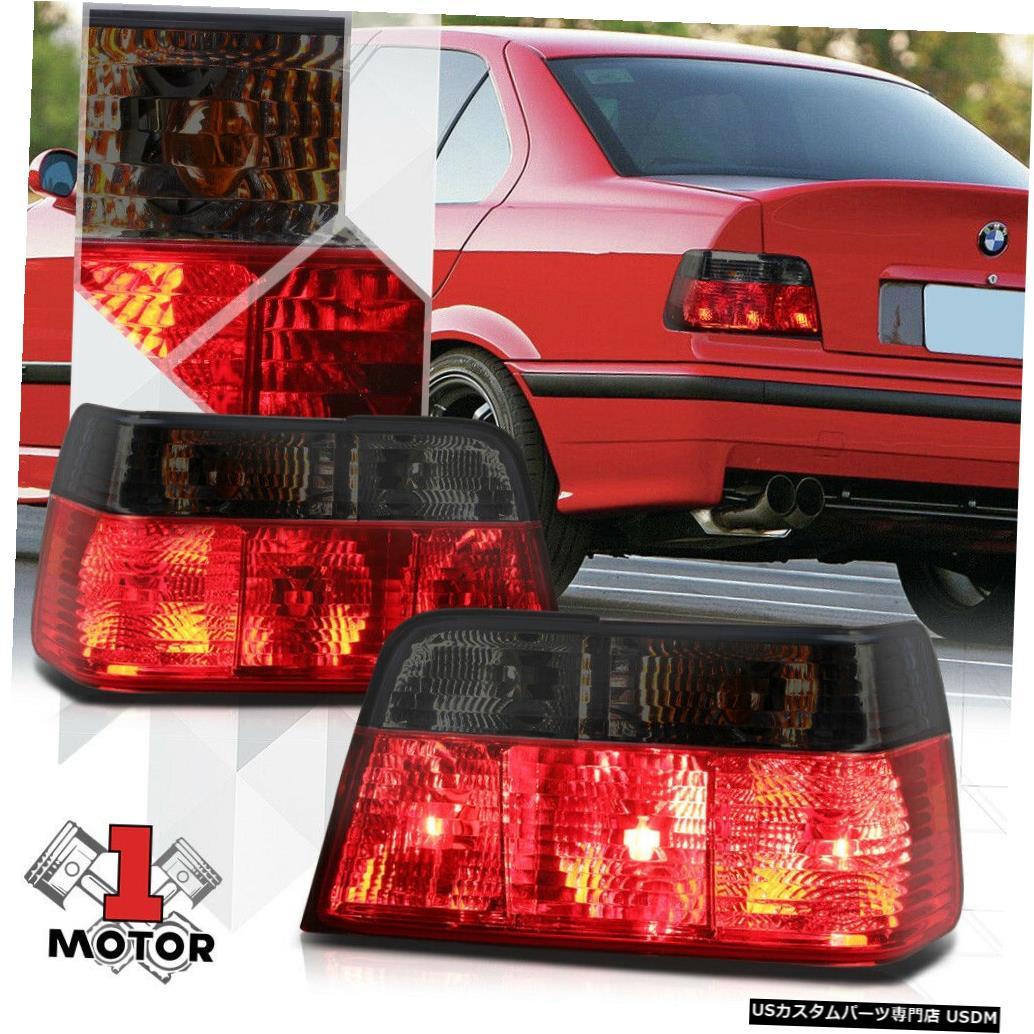 テールライト 92-99 BMW E36 3シリーズ4Drセダン用クロームハウジングレッド/スモーク* EURO *テールライト Chrome Housing Red/Smoked *EURO* Tail Light for 92-99 BMW E36 3-Series 4Dr Sedan
