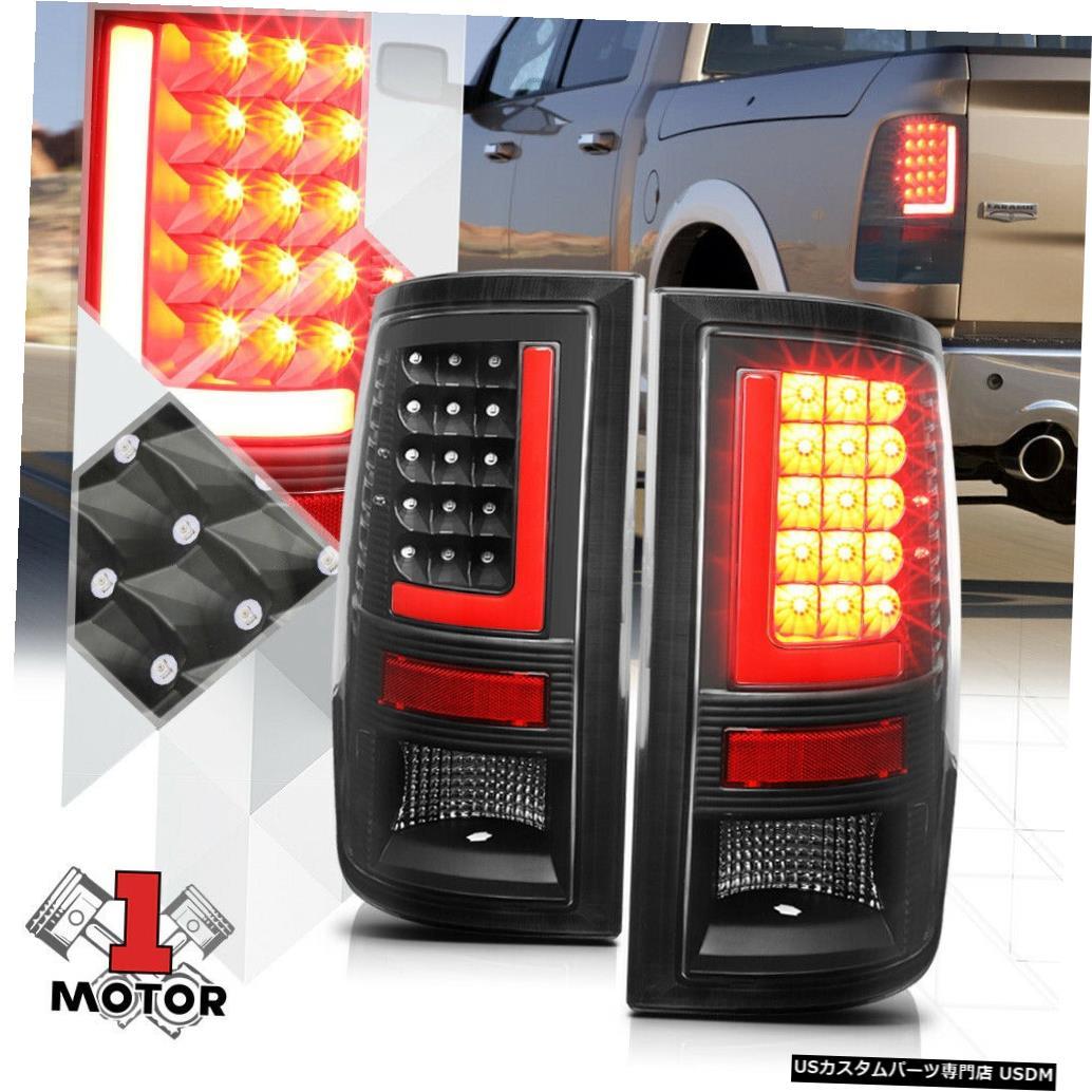 テールライト 09-17ダッジラム用ブラック/クリア*トロンLEDバー* 3Dレッド-Lネオンテールライトブレーキランプ Black/Clear*TRON LED BAR*3D Red-L Neon Tail Light Brake Lamp for 09-17 Dodge Ram