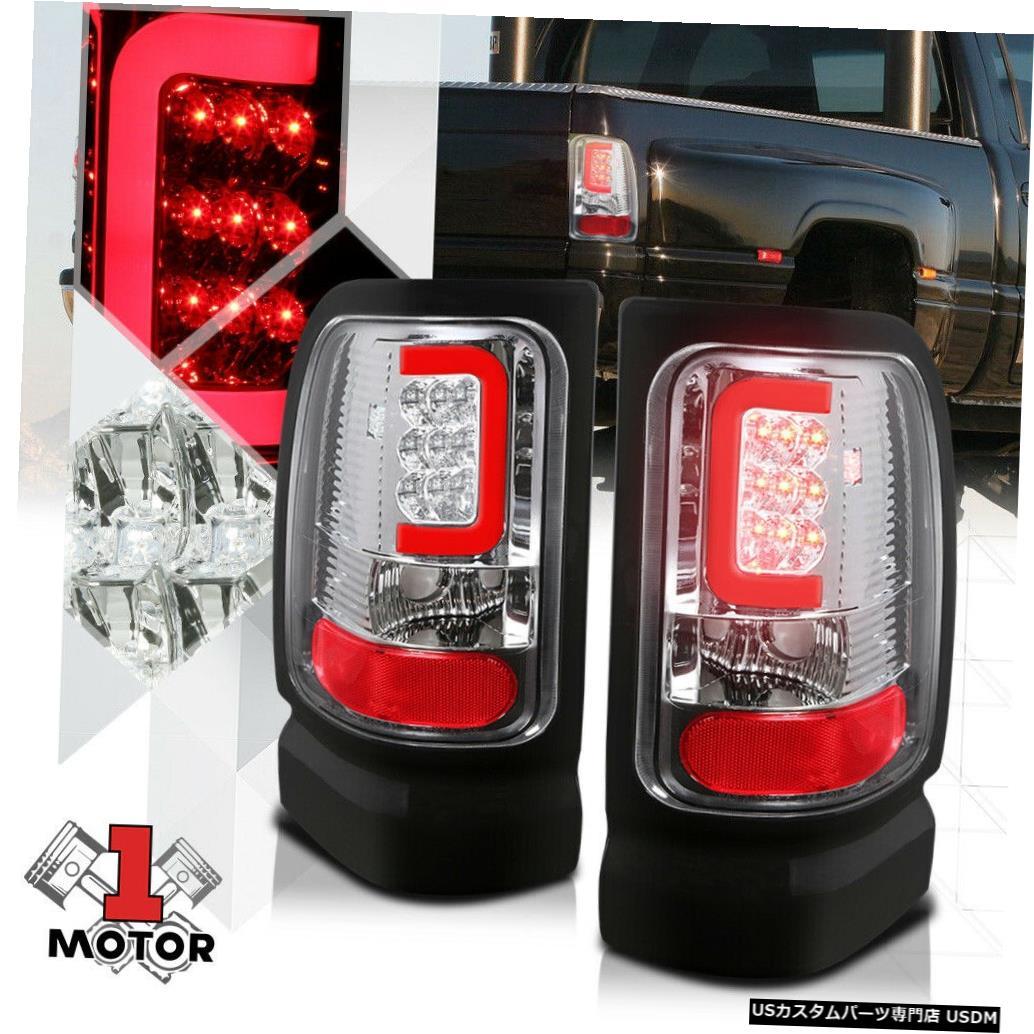 テールライト クローム/クリア* TRON LED BAR * 94-02 Ram用3D Red-Cネオンテールライトブレーキランプ Chrome/Clear *TRON LED BAR* 3D Red-C Neon Tail Light Brake Lamp for 94-02 Ram
