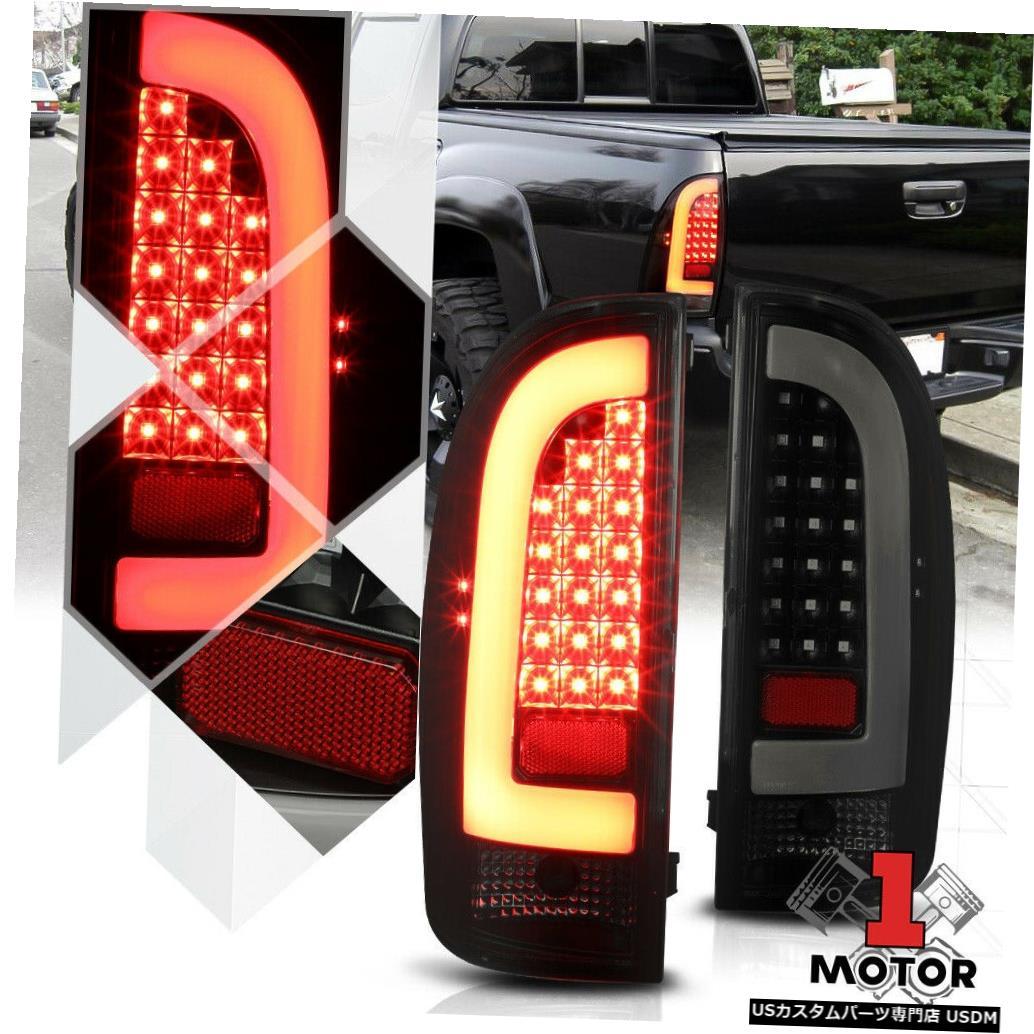 テールライト 05/15トヨタタコマ用ブラック/スモーク* TRON LED BAR * 3Dネオンチューブテールライトランプ Black/Smoked *TRON LED BAR* 3D Neon Tube Tail Light Lamp for 05-15 Toyota Tacoma