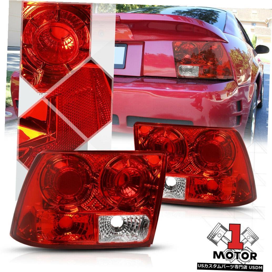 テールライト 99-04フォードマスタング用レッド/クリア*ユーロアルテッツァ*テールライトリア逆ブレーキランプ Red/Clear*EURO ALTEZZA*Tail Light Rear Reverse Brake Lamp for 99-04 Ford Mustang
