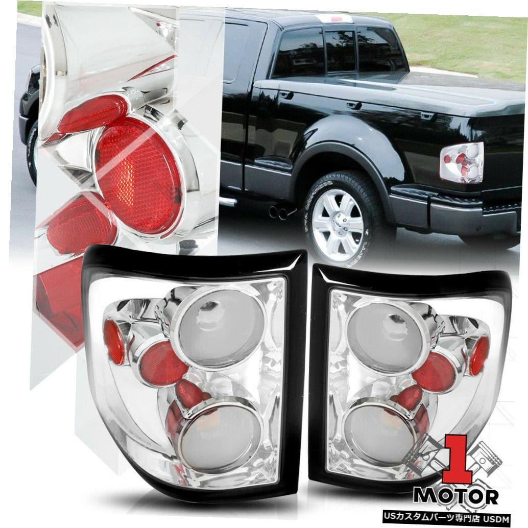 テールライト クローム/レッド* EURO ALTEZZA * 04-08 Ford F150 Flareside用テールライトブレーキランプ Chrome/Red *EURO ALTEZZA* Tail Light Brake Lamp for 04-08 Ford F150 Flareside