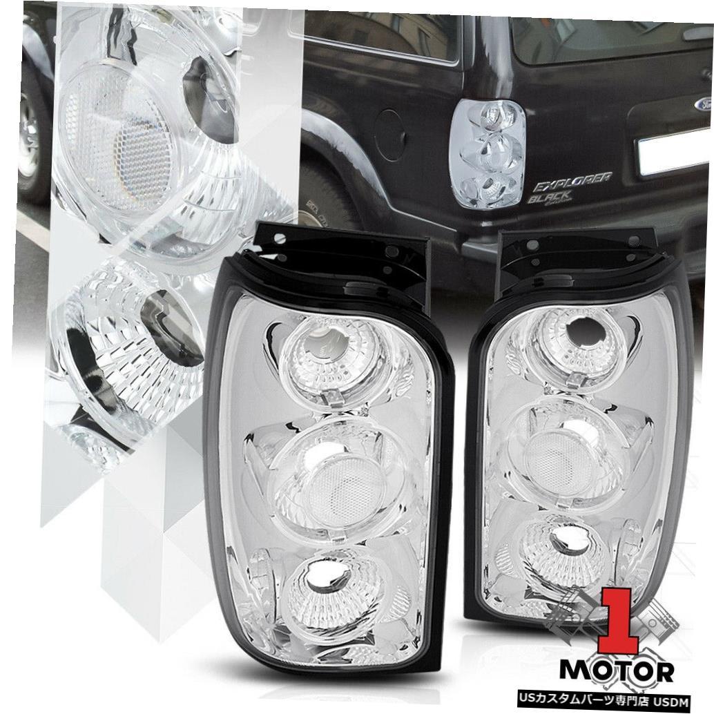 テールライト クロームハウジングクリアレンズ* EURO ALTEZZA * 98-01 Explorer用テールライトブレーキランプ Chrome Housing Clear Lens*EURO ALTEZZA*Tail Light Brake Lamp for 98-01 Explorer