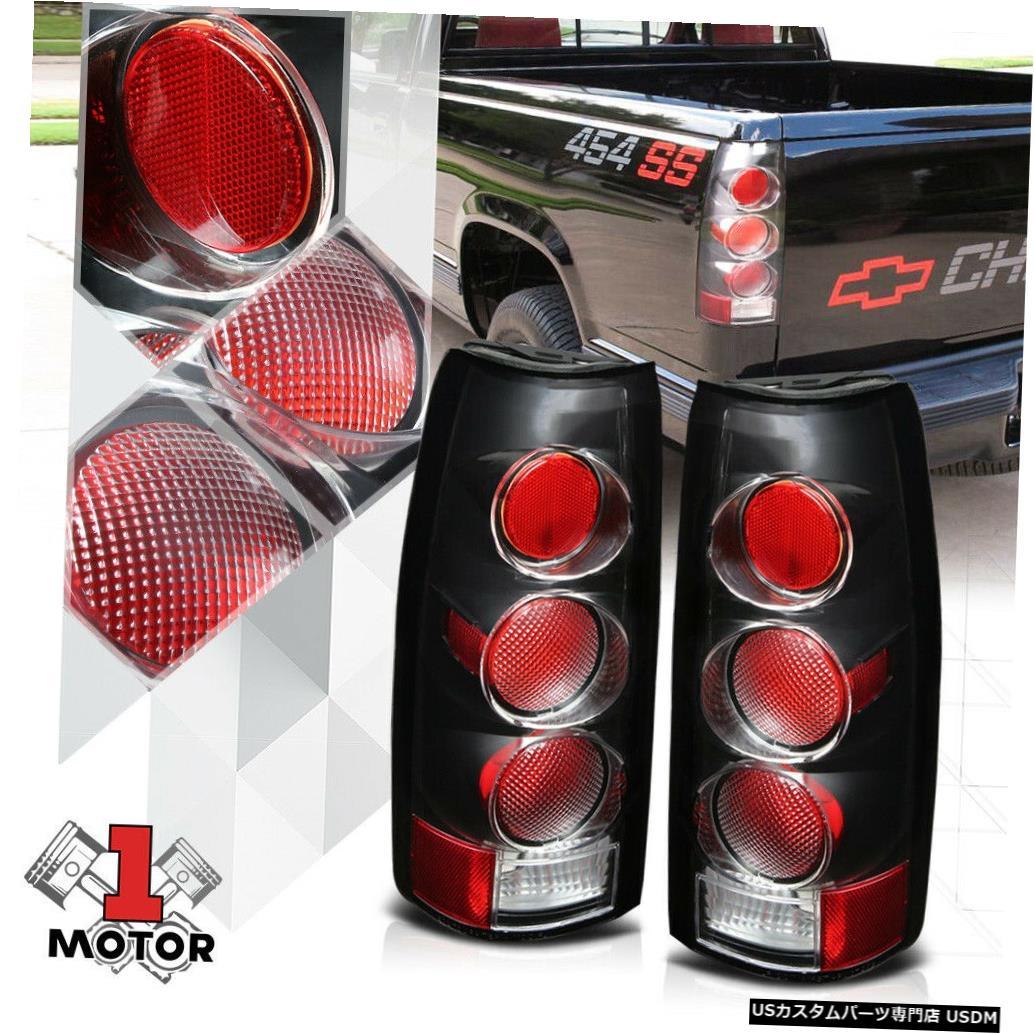 テールライト 88/00シボレーC10 C / Kサバーバンブレザー用ブラック/クリア* EURO ALTEZZA *テールライト Black/Clear *EURO ALTEZZA* Tail Light for 88-00 Chevy C10 C/K Suburban Blazer