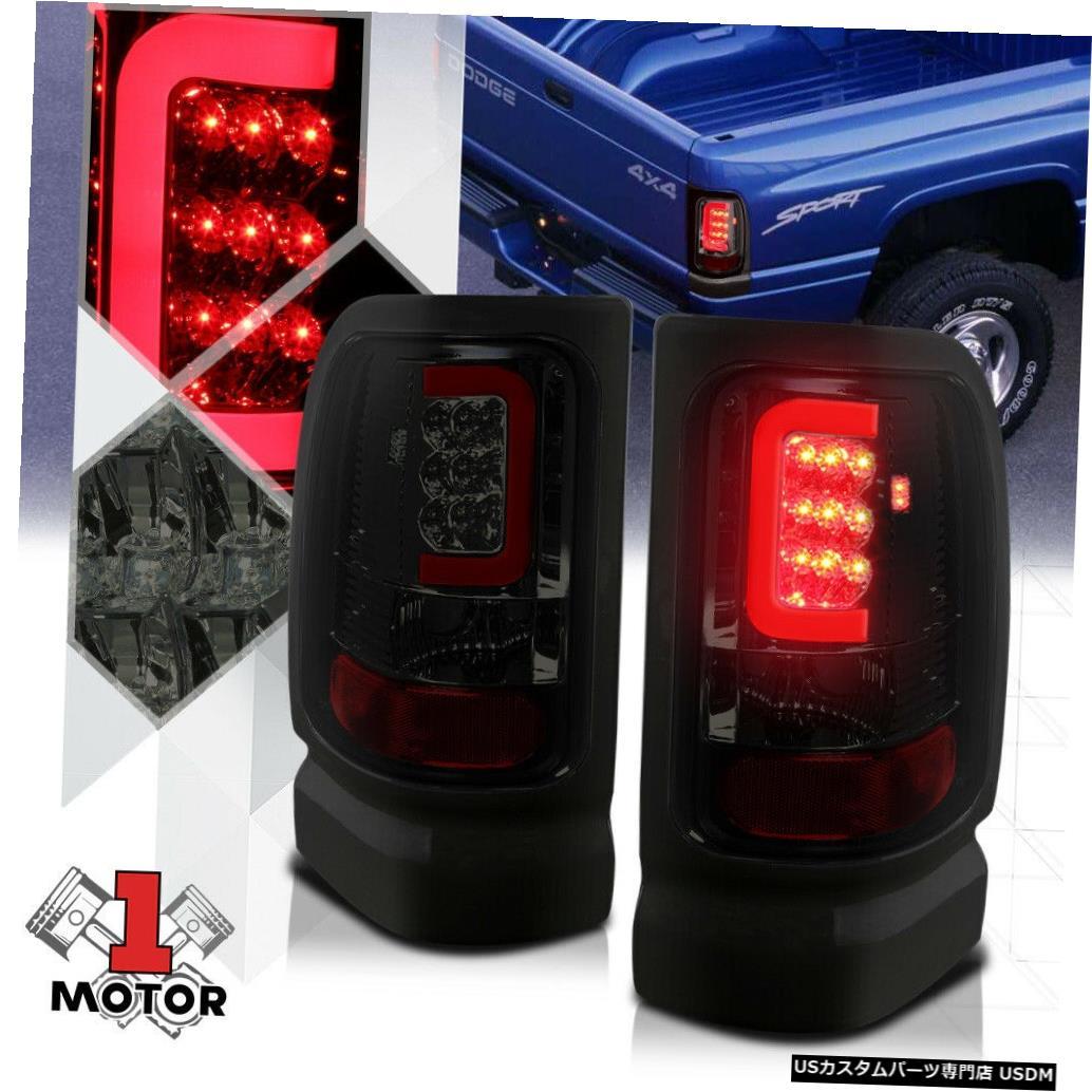テールライト クロム/スモーク* TRON LED BAR * 94-02 Ram用3D Red-Cネオンテールライトブレーキランプ Chrome/Smoked *TRON LED BAR* 3D Red-C Neon Tail Light Brake Lamp for 94-02 Ram