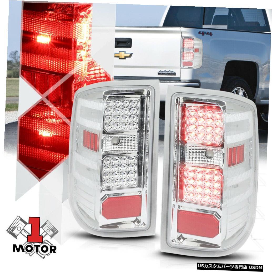 テールライト 14 15 16 17シルバラード/シエラのクローム/クリア*フルLED *テールライトリバースランプ Chrome/Clear *Full LED* Tail Light Reverse Lamp for 14 15 16 17 Silverado/Sierra
