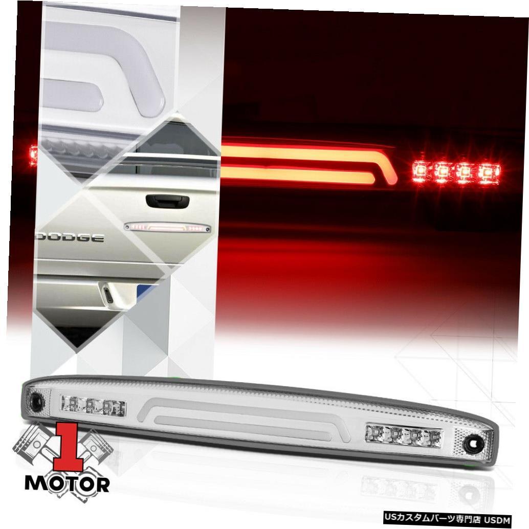 テールライト 03-06 Ram 2500/3500用のクローム/クリアLEDバーリアテールゲートテールゲートブレーキライト Chrome/Clear LED Bar Rear Tailgate Tail Gate Brake Light for 03-06 Ram 2500/3500