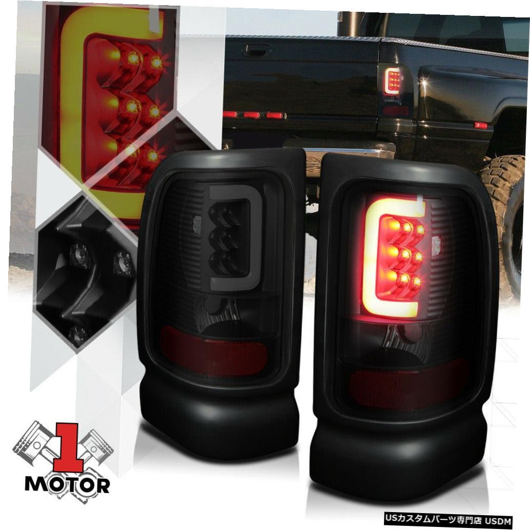 テールライト 94-02ダッジラム用ブラック/スモーク*トロンLEDバー* 3Dネオンチューブテールライトブレーキランプ Black/Smoked*TRON LED BAR*3D Neon Tube Tail Light Brake Lamp for 94-02 Dodge Ram