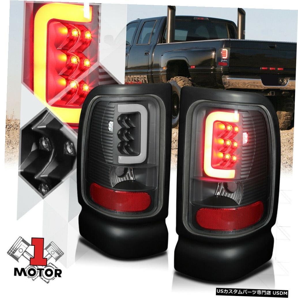 テールライト 94-02ダッジラム用ブラック/クリア*トロンLEDバー* 3Dネオンチューブテールライトブレーキランプ Black/Clear*TRON LED BAR*3D Neon Tube Tail Light Brake Lamp for 94-02 Dodge Ram