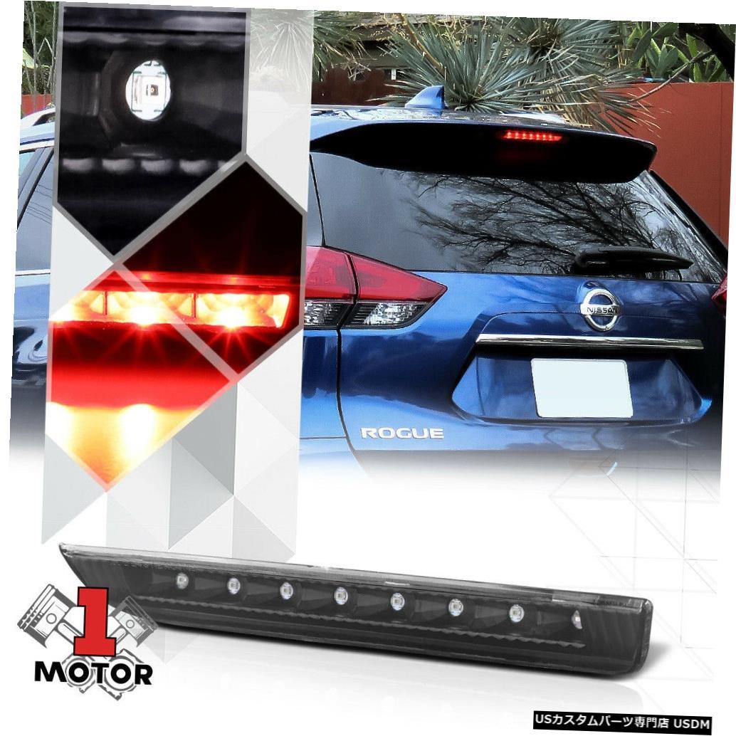 テールライト 14-19日産ローグ用ブラックハウジングクリアレンズリアLED 3番目[3番目]ブレーキライト Black Housing Clear Lens Rear LED Third [3rd] Brake Light for 14-19 Nissan Rogue