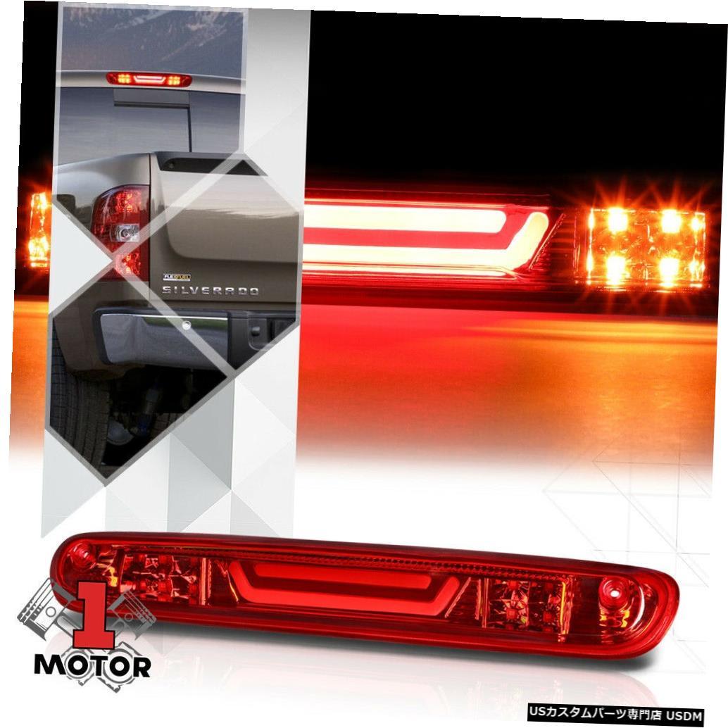 テールライト 07-14シルバラード/シエラで機能する赤色LEDバー3番目[3番目]ブレーキライト貨物 Red LED Bar Third [3rd] Brake Light Cargo Functioned for 07-14 Silverado/Sierra