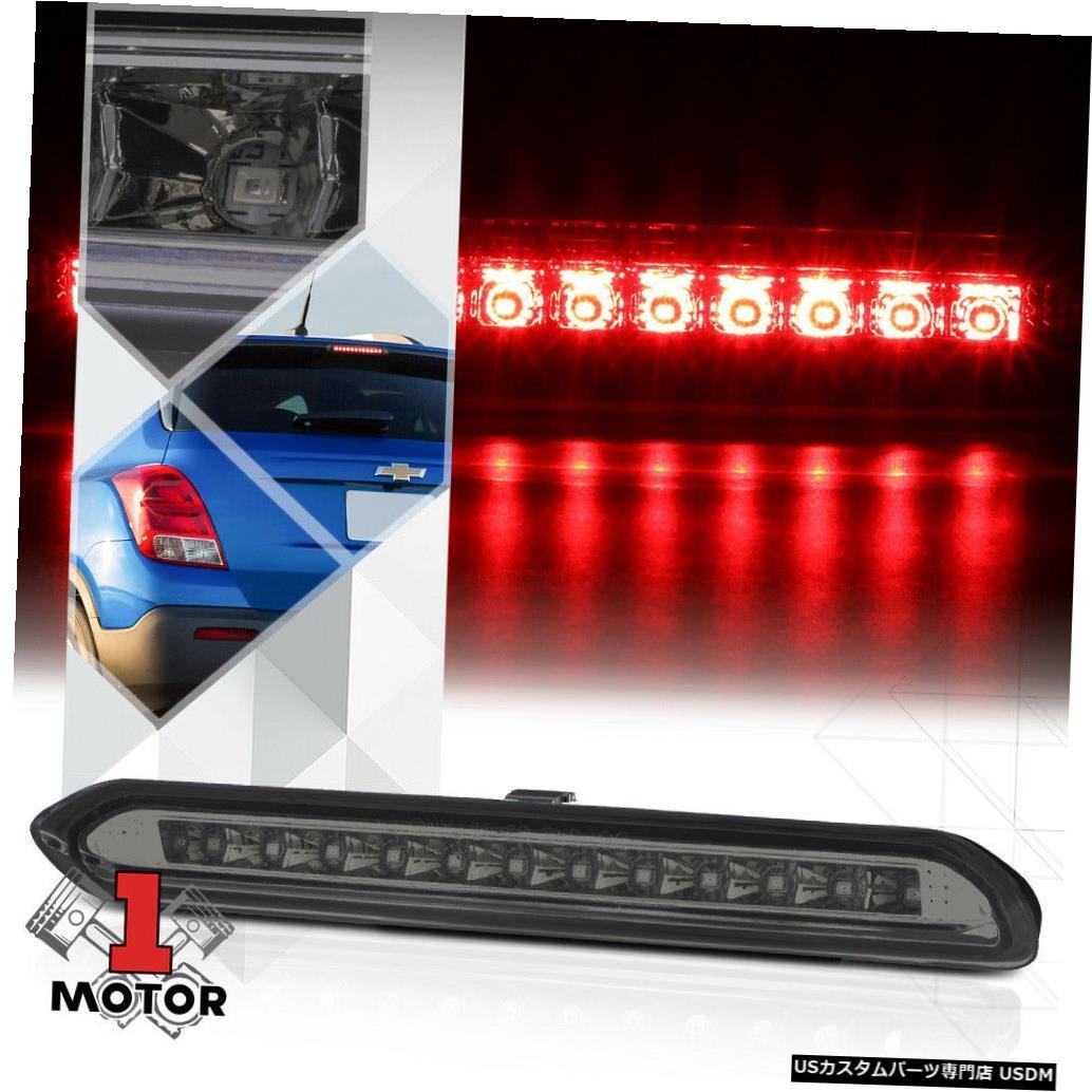 テールライト 13-18アンコール/トラック用のクロームハウジングスモークレンズLED第3 [第3]ブレーキライトランプ Chrome Housing Smoke Lens LED Third [3rd] Brake Light Lamp for 13-18 Encore/Trax