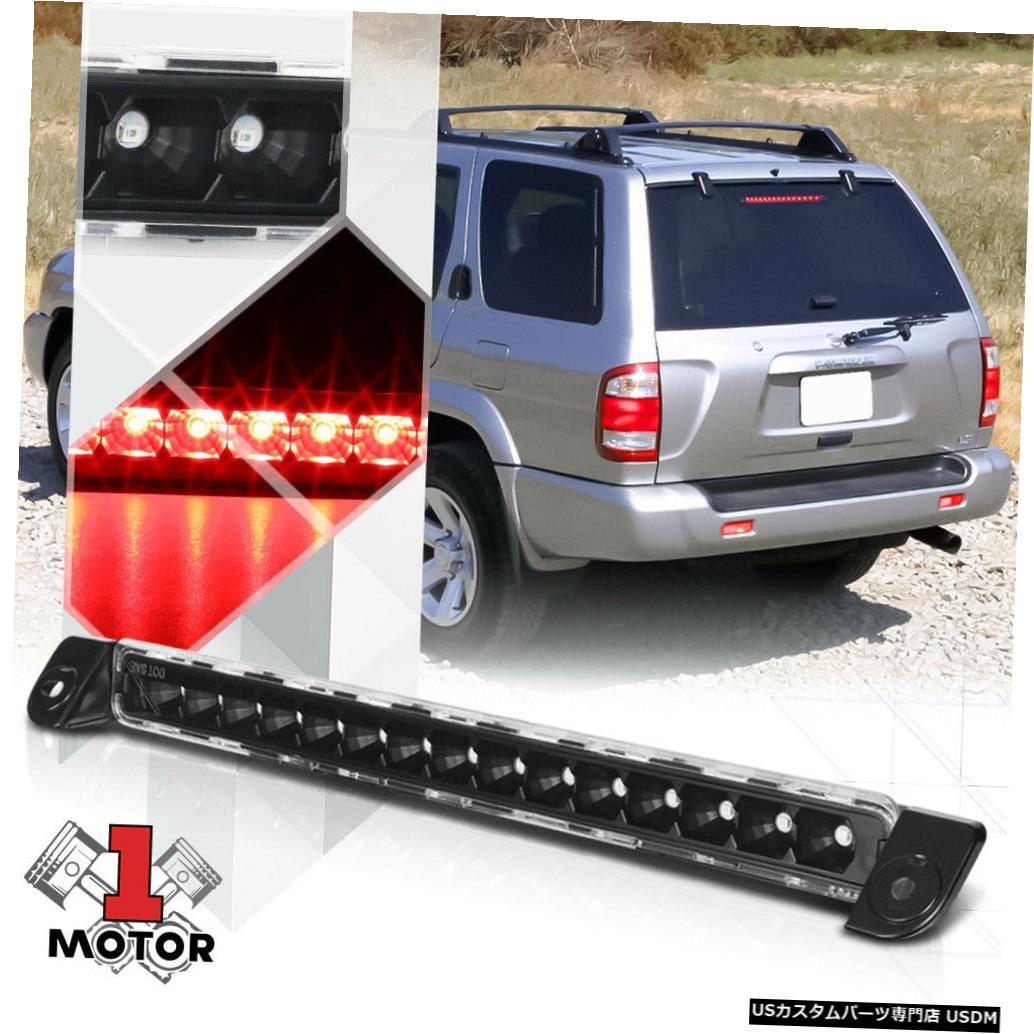 テールライト ブラックハウジングクリアレンズリアLED第3 [第3]ブレーキライト01-04 QX4 / Pathfinder用 Black Housing Clear Lens Rear LED Third[3rd]Brake Light for 01-04 QX4/Pathfinder