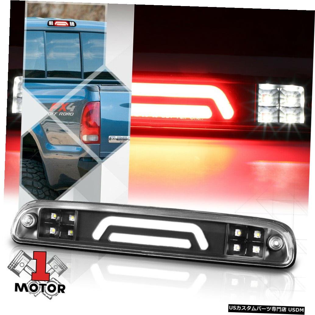 テールライト ブラッククリアリアLEDバー99-16フォードスーパーデューティ用の第3 [3]ブレーキライトカーゴ Black Clear Rear LED Bar Third [3rd] Brake Light Cargo for 99-16 Ford Super Duty