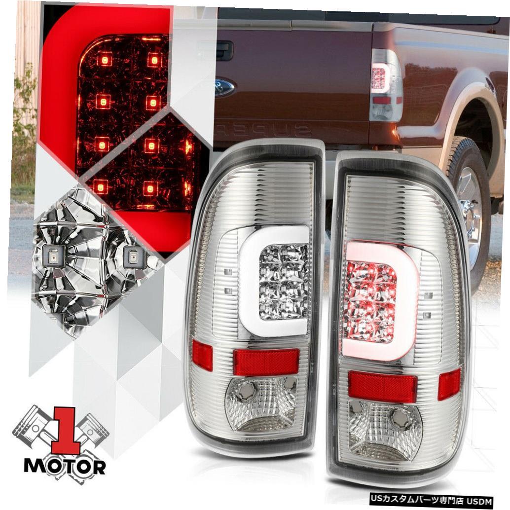 テールライト クローム/クリア* TRON LED C-BAR * 08-16 Super Duty SD F350用ネオンチューブテールライト Chrome/Clear *TRON LED C-BAR* Neon Tube Tail Light for 08-16 Super Duty SD F350