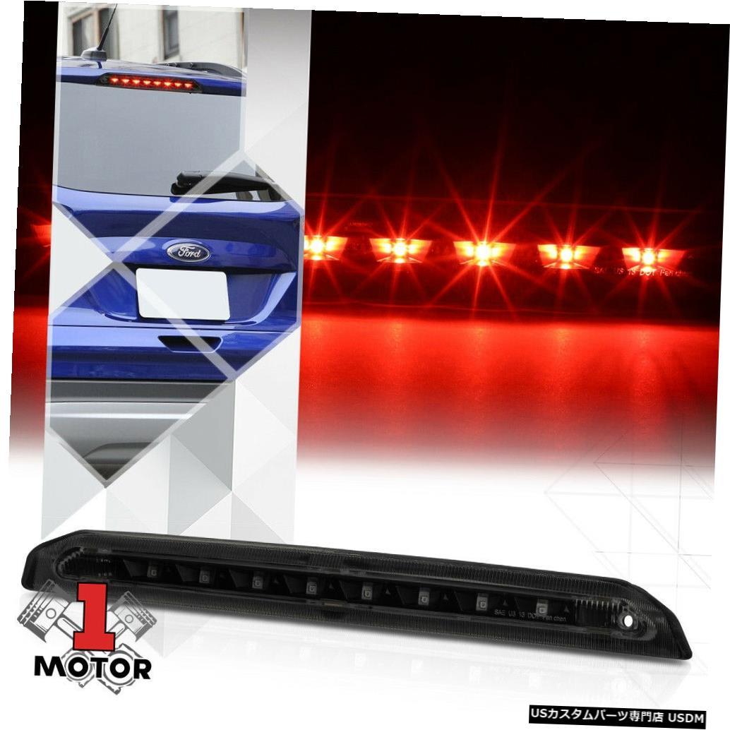 テールライト 13-18フォードエスケープ用ブラックハウジングスモークレンズリアLED 3番目[3番目]ブレーキライト Black Housing Smoke Lens Rear LED Third [3rd] Brake Light for 13-18 Ford Escape