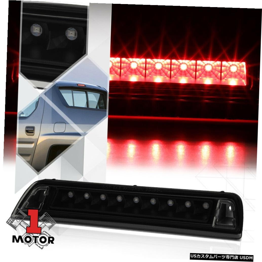 テールライト 06-14ホンダリッジライン用ブラック/スモークレンズリアLED 3番目[3番目]ブレーキライトランプ Black/Smoke Lens Rear LED Third [3rd] Brake Light Lamp for 06-14 Honda Ridgeline