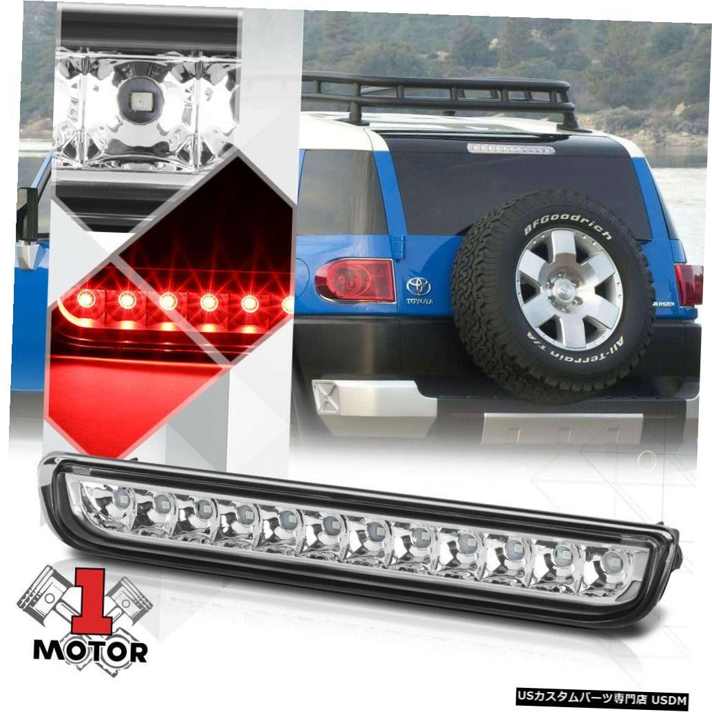 テールライト 07-14トヨタFJクルーザー用クロームハウジングクリアレンズLED第3 [第3]ブレーキライト Chrome Housing Clear Lens LED Third[3rd]Brake Light for 07-14 Toyota FJ Cruiser