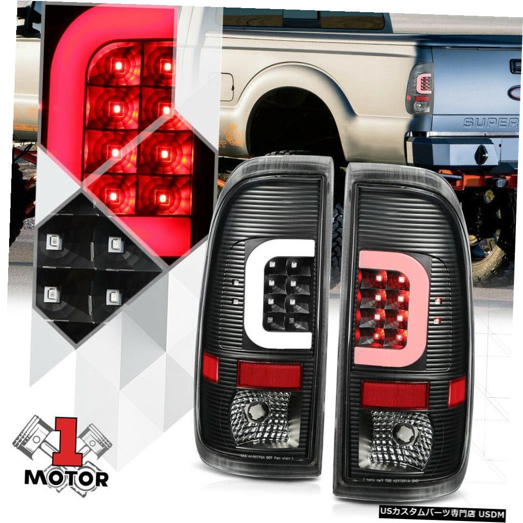 テールライト ブラック/クリア* TRON LED C-BAR * 08-16フォードF250 F350 F450用ネオンチューブテールライト Black/Clear *TRON LED C-BAR* Neon Tube Tail Light for 08-16 Ford F250 F350 F450