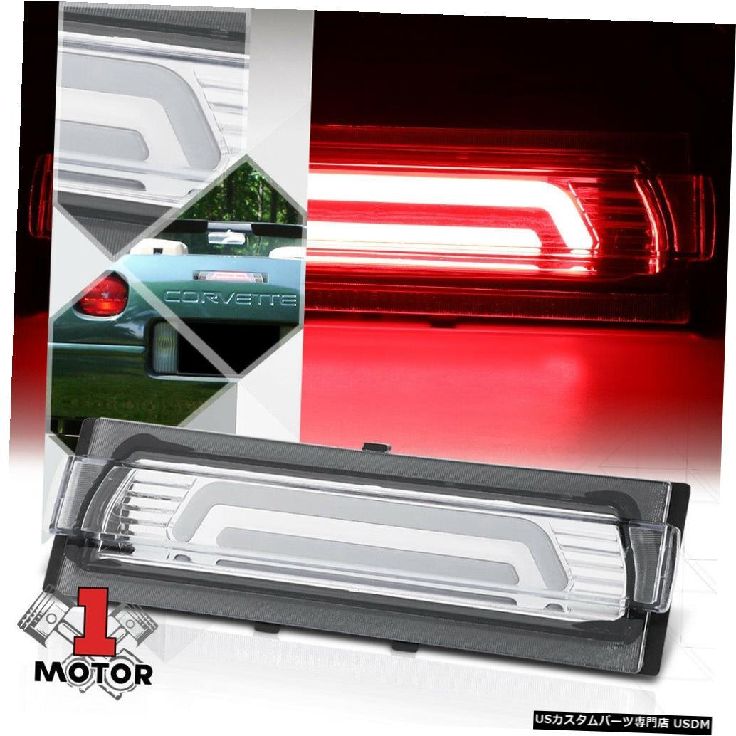 テールライト クローム/クリア3D [LED BAR] 91-96シボレーコルベット用リア3番目3ブレーキライトランプ Chrome/Clear 3D[LED BAR]Rear Third 3rd Brake Light Lamp for 91-96 Chevy Corvette