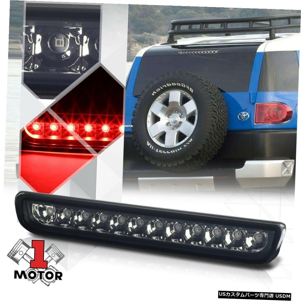 テールライト 07-14トヨタFJクルーザー用クロームハウジングスモークレンズLED第3 [第3]ブレーキライト Chrome Housing Smoke Lens LED Third[3rd]Brake Light for 07-14 Toyota FJ Cruiser