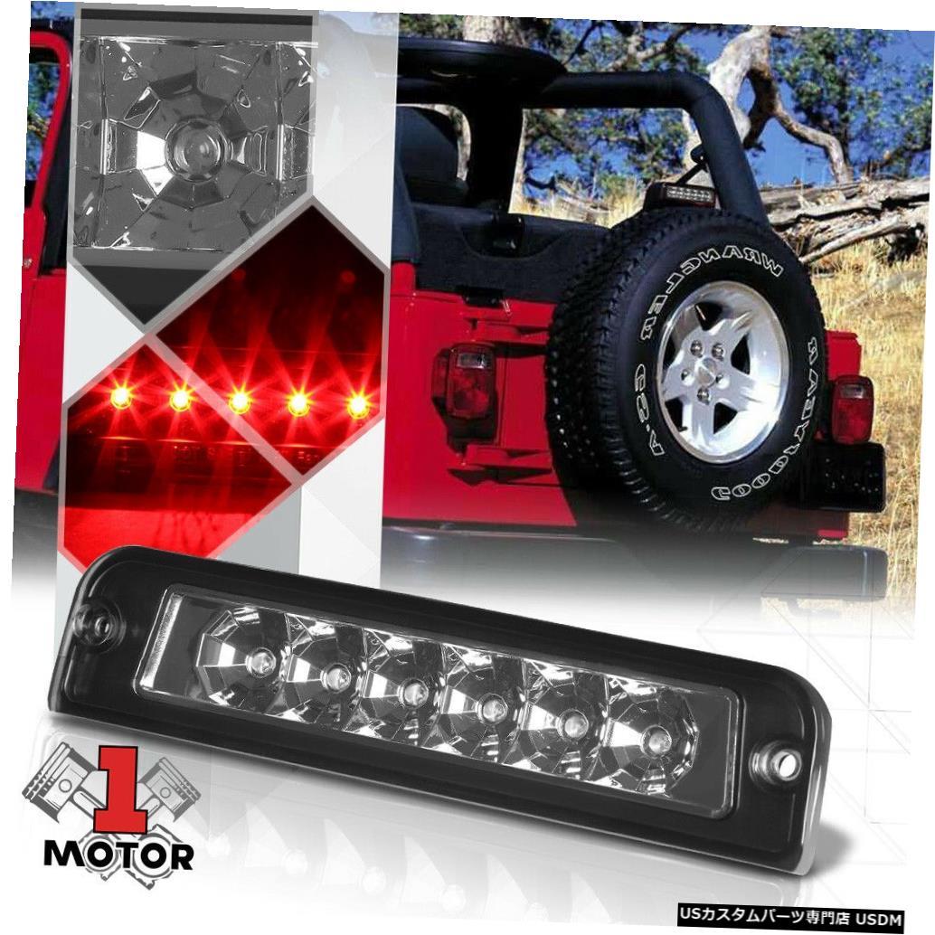 テールライト 97-06ジープラングラー用クロームハウジングスモークレンズリアLED第3 [第3]ブレーキライト Chrome Housing Smoke Lens Rear LED Third[3rd]Brake Light for 97-06 Jeep Wrangler