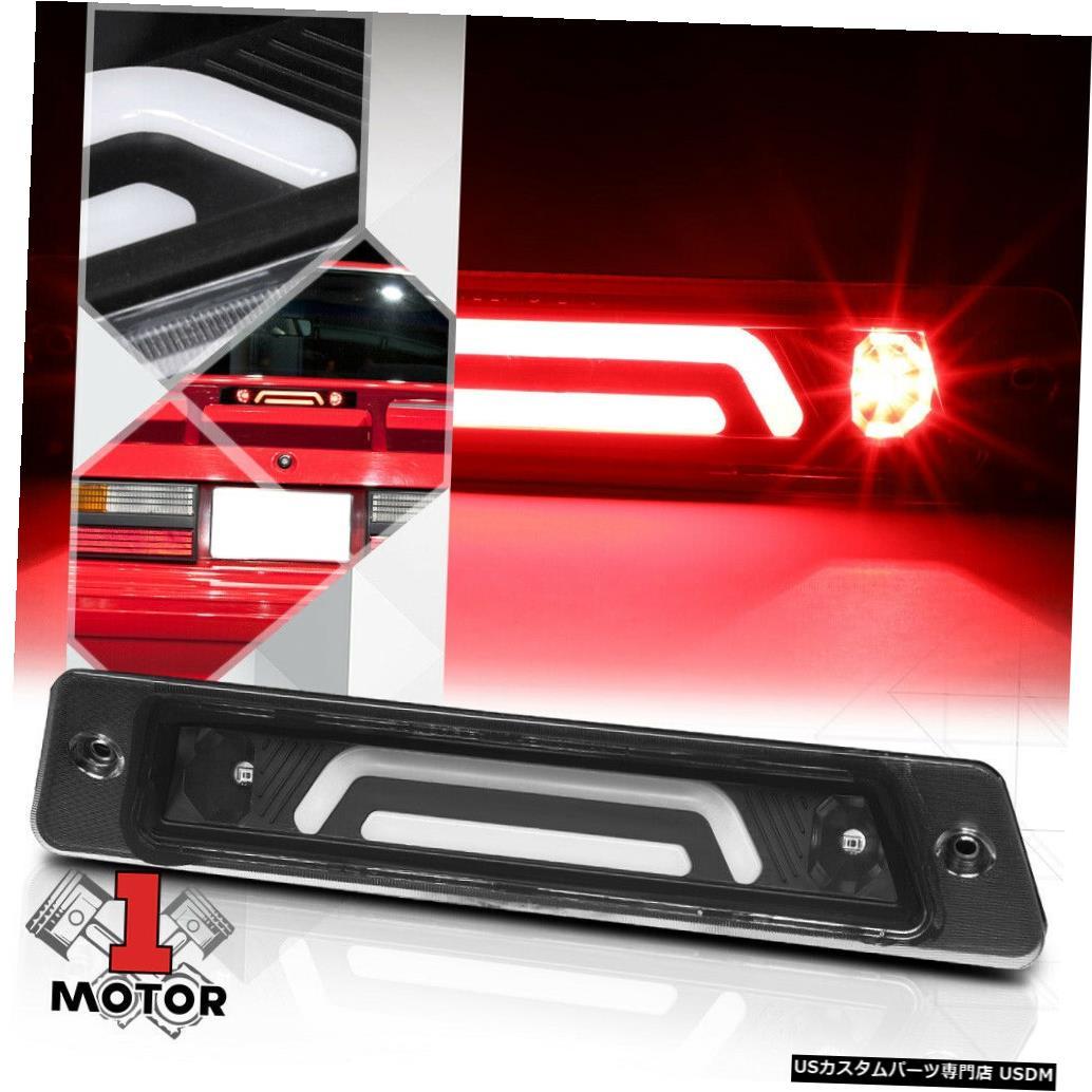 テールライト ブラック/クリア3D [LED BAR] 87-93マスタングw /スポイラー用リア3番目3ブレーキライト Black/Clear 3D [LED BAR] Rear Third 3rd Brake Light for 87-93 Mustang w/Spoiler