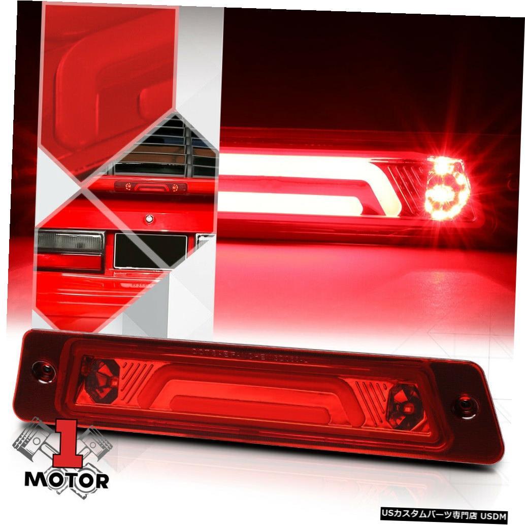 テールライト クローム/レッド3D [LED BAR] 87-93マスタングw /スポイラー用リアサード3rdブレーキライト Chrome/Red 3D [LED BAR] Rear Third 3rd Brake Light for 87-93 Mustang w/Spoiler
