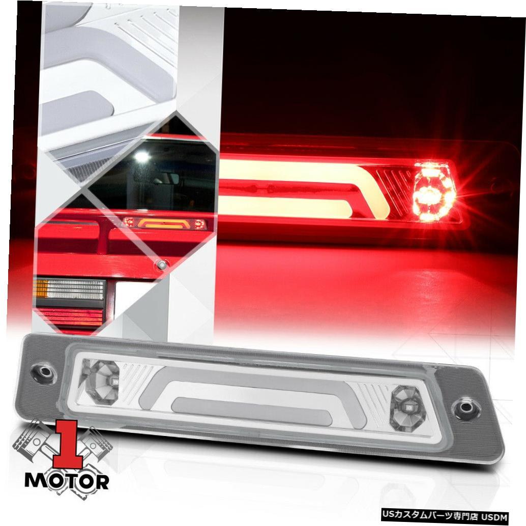 テールライト クロム/クリア3D [LED BAR] 87-93マスタングw /スポイラー用リア3番目のブレーキライト Chrome/Clear 3D [LED BAR] Rear Third 3rd Brake Light for 87-93 Mustang w/Spoiler