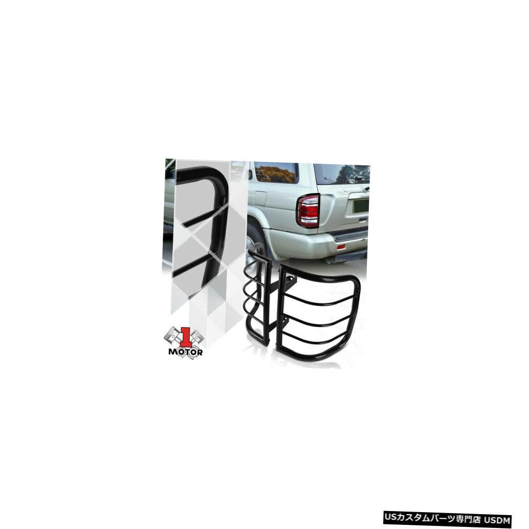 テールライト 96-04日産パスファインダー用ブラックステンレステールライトガードプロテクター Black Stainless Steel Tail Light Guard Protector for 96-04 Nissan Pathfinder