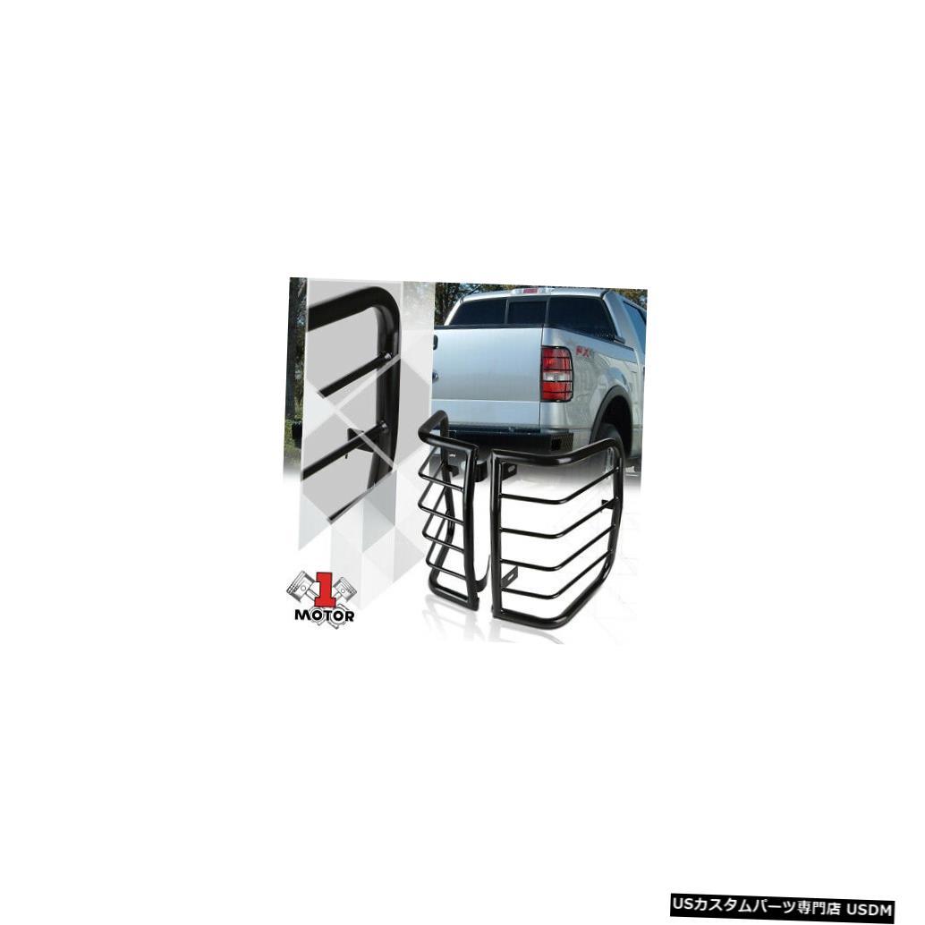 テールライト 04-08フォードF150用ブラックステンレステールライト/ランプガードプロテクターカバー Black Stainless Steel Tail Light/Lamp Guard Protector Cover for 04-08 Ford F150
