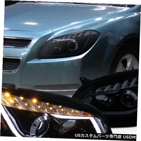 【オンラインショップ】 Headlight 2008-2012シボレーマリブ光沢のある黒いLEDチューブバープロジェクターヘッドライト Bar For 2008-2012 Black Projector Chevy Malibu Glossy Black LED Tube Bar Projector Headlights, Donguriano Wine:a5711817 --- inglin-transporte.ch