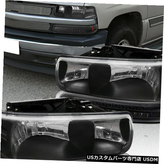 Headlight 1999-2002 Silverado 1500 / 2000-2006 Tahoe Blackヘッドライト+ LEDバンパーランプ用 For 1999-2002 Silverado 1500 / 2000-2006 Tahoe Black Headlights+LED Bumper Lamps