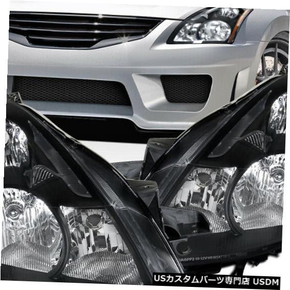 Halogen Headlights Headlight 2010-2012 Nissan Black 2010-2012日産アルティマセダンブラックハロゲンヘッドライトウインカーライト For Lights Altima Turn Sedan Signal