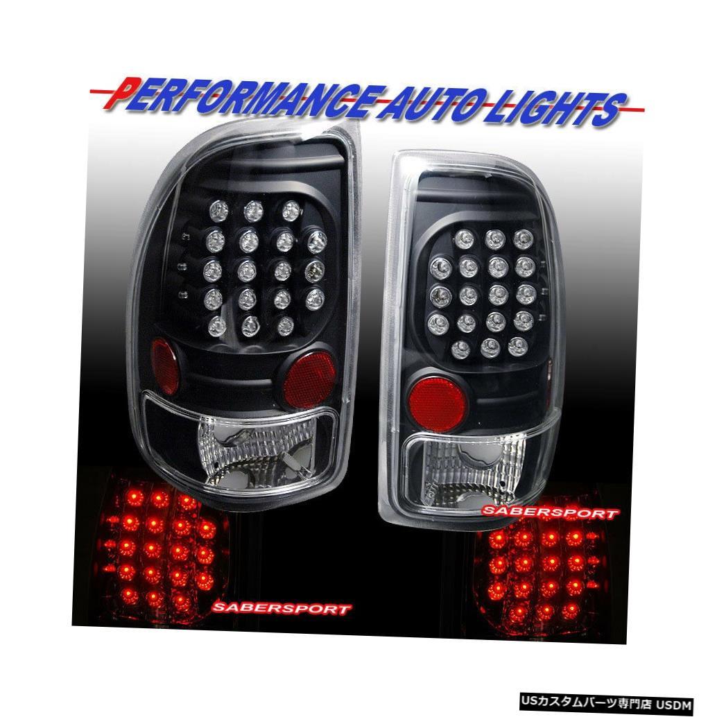 Tail light 1997-2004ダッジダコタ用ペアブラックLEDテールライトのセット Set of Pair Black LED Taillights for 1997-2004 Dodge Dakota