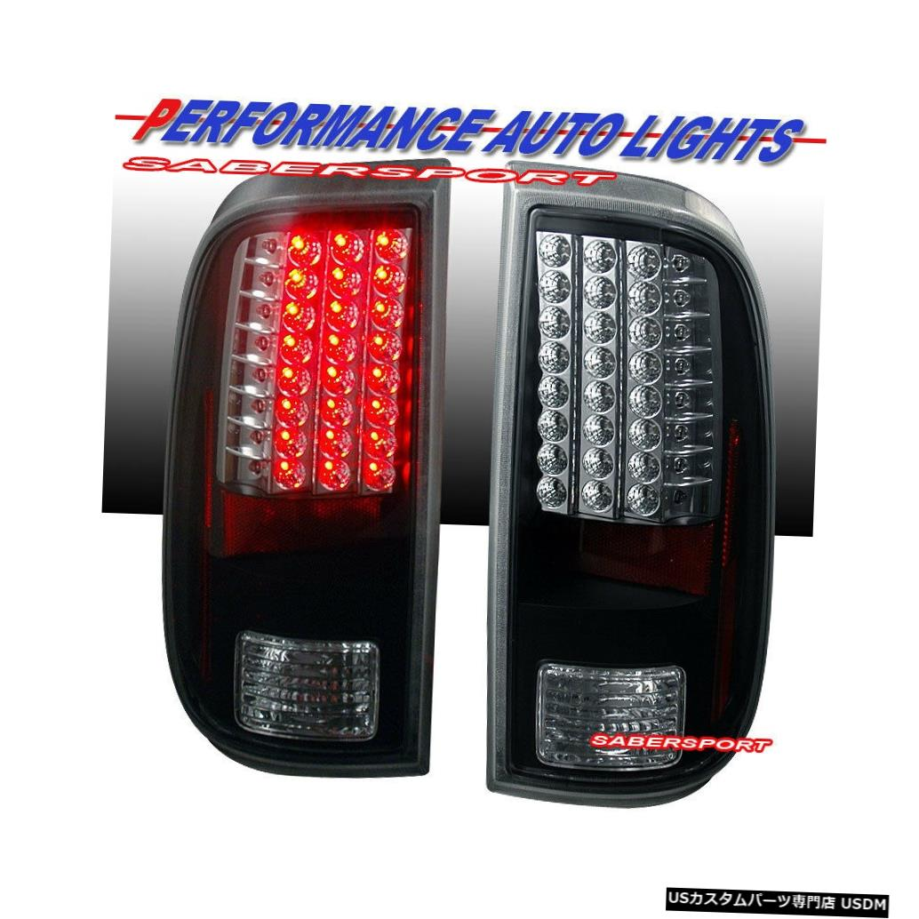 Tail light 2008-2016 Ford F-250 / 350/450/550 SuperDutyのペアブラックLEDテールライトセット Set of Pair Black LED Taillights for 2008-2016 Ford F-250/350/450/550 SuperDuty