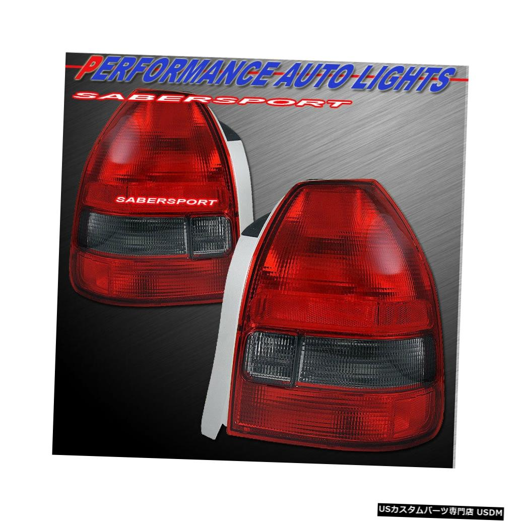 Tail light 1996?2000 Civic 3drハッチバック用ペアOEスタイル赤スモークテールライトのセット Set of Pair OE Style Red Smoke Taillights for 1996-2000 Civic 3dr Hatchback