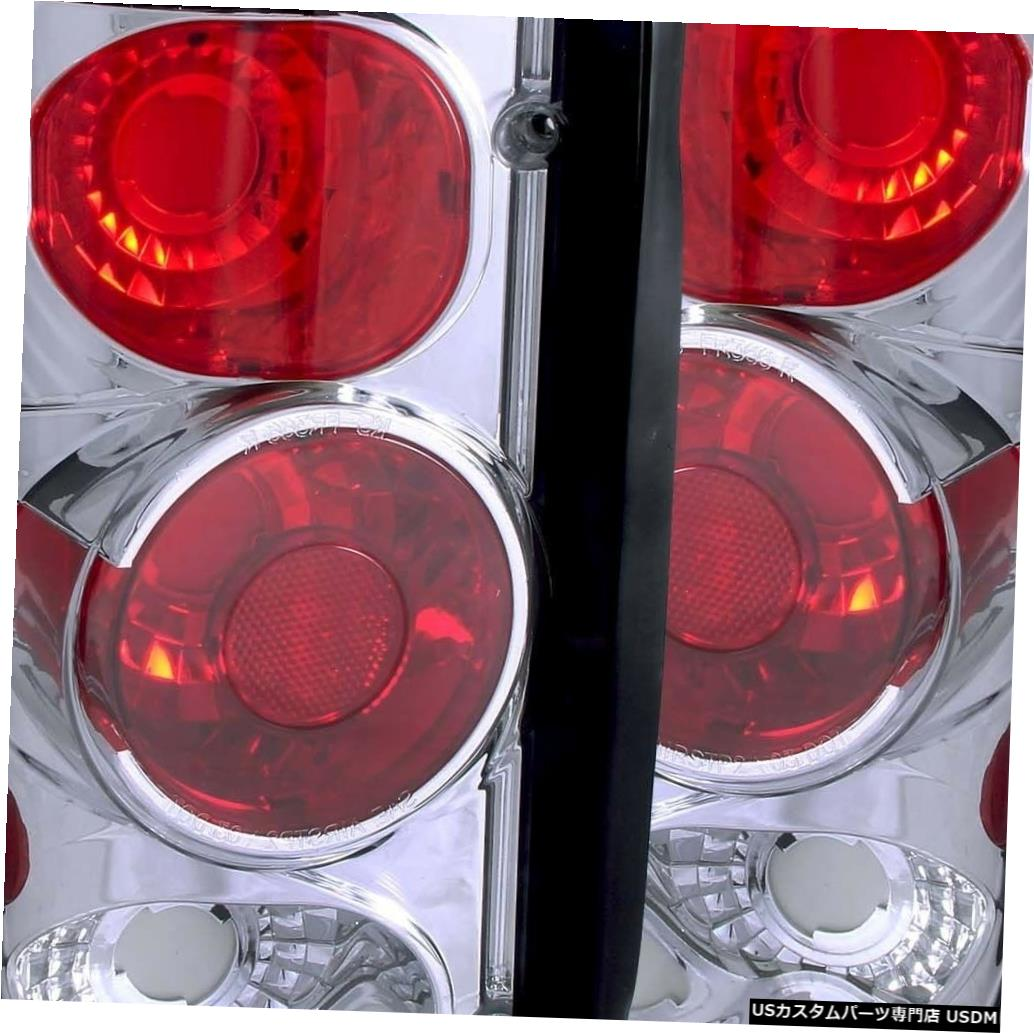 Tail light 1995-2006フォードエコノラインバンとエクスカーション用のペアクロームテールランプセット Set of Pair Chrome Taillights for 1995-2006 Ford Econoline Van and Excursion