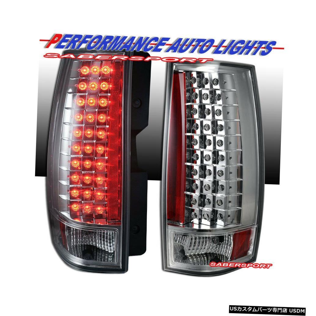 Tail light 2007-2014 Chevy Tahoe Suburban / GMC YukonのペアクロームLEDテールライトセット Set of Pair Chrome LED Taillights for 2007-2014 Chevy Tahoe Suburban / GMC Yukon