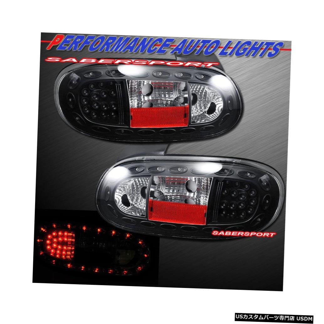 Tail light 1999-2005マツダMX-5ミアータ用ペアブラックLEDテールライトセット Set of Pair Black LED Taillights for 1999-2005 Mazda MX-5 Miata