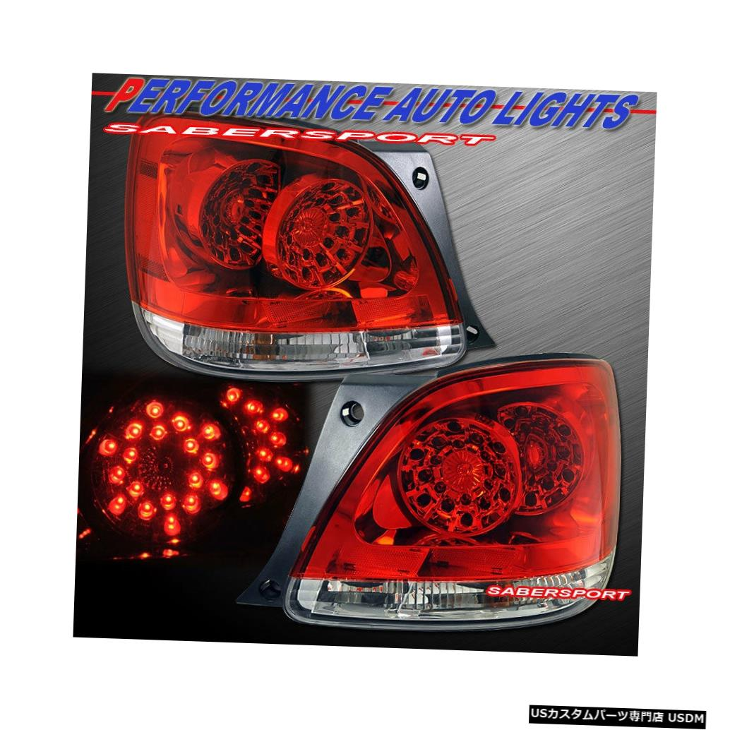 Tail light 2001-2005レクサスGS300 GS430用ペア赤レンズLEDテールライトのセット Set of Pair Red Lens LED Taillights for 2001-2005 Lexus GS300 GS430