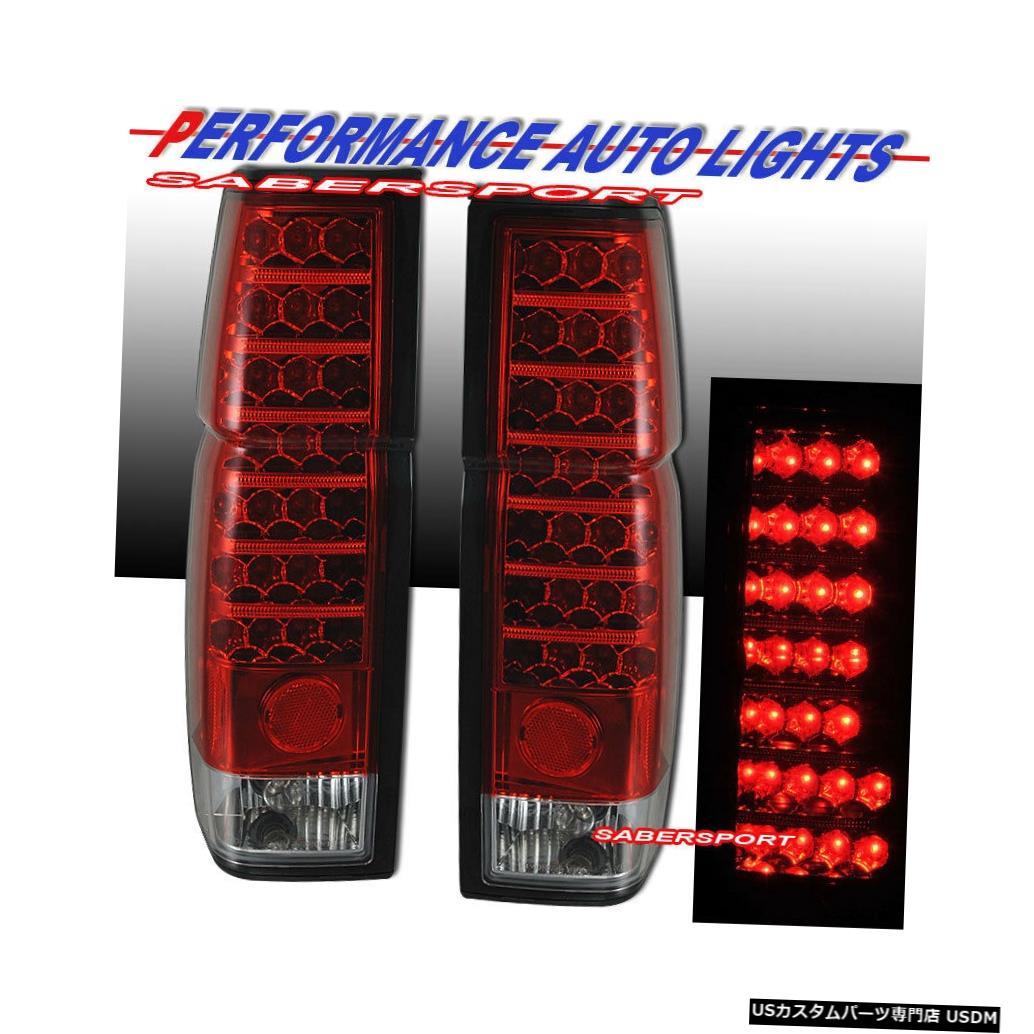 Tail light 1986-1997日産ハードボディピックアップ用のペアレッドレンズLEDテールライトのセット Set of Pair Red Lens LED Taillights for 1986-1997 Nissan Hardbody Pickup